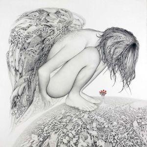 dessin-crayons-14O02-Espereence-90x90-cm-2014